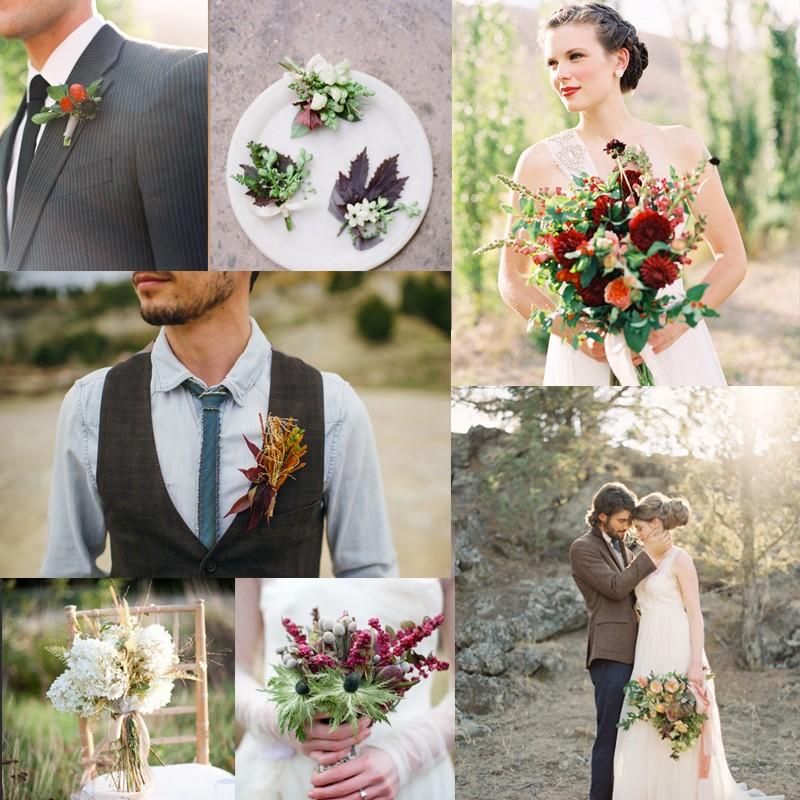 秋のウェディングの参考に!秋の美しいブーケとブートニアの組み合わせ 20+<br />20+ Fall Beautiful Wedding Bouquets and Matching Boutonnieres Ideas