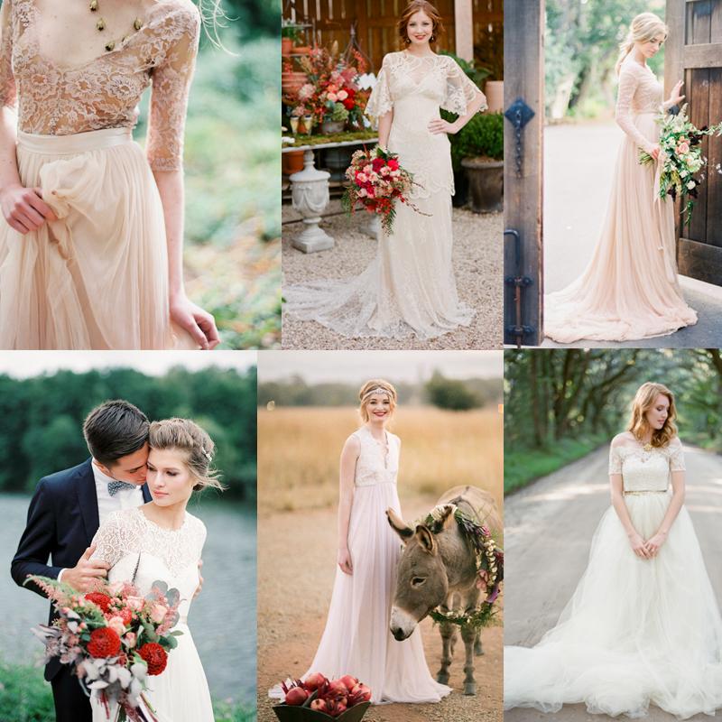半袖 ロングスリーブ 秋のウェディングドレススタイル<br />20+ Ideas about fall wedding dress styles