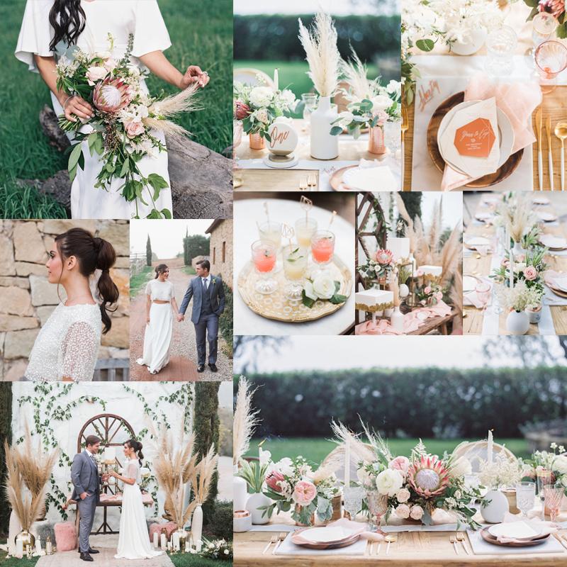 2016-2017 秋から冬,春にむけておすすめのオリジナルウェディングテーマのアイデア3  WaterColor & Protea <br />2016-2017 Beautiful Wedding Theme Ideas Fall for Winter 3