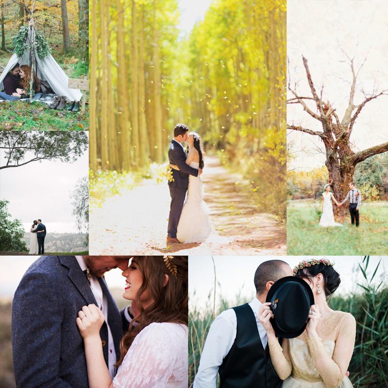 フォトウェディングの参考にしたい <br />秋のロマンチックな Fine Artなウェディングポートレート <br />Fall Beautiful Fine Art Bridal Portrait