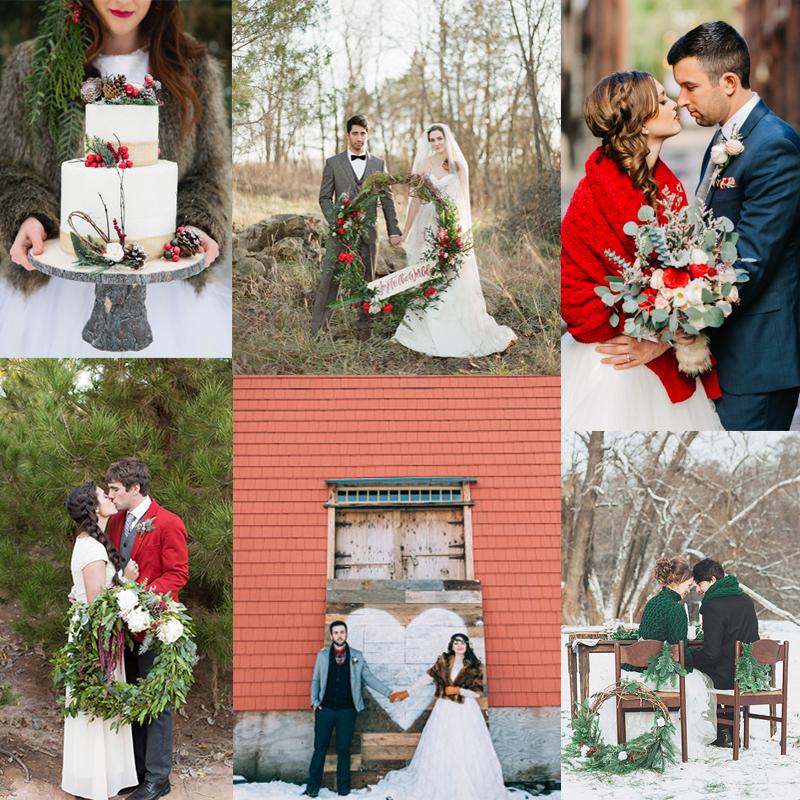 ロマンチックな冬のオリジナルウェディング 6つのクリスマスウェディングのアイデア<br />6 Romantic Christmas Wedding Ideas