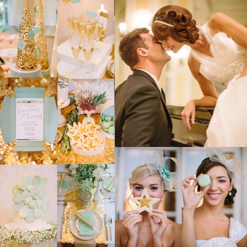 ハッピーニューイヤー!2017年新年におすすめのゴールドを使った冬のニューイヤーウェディングのアイデア<br />New Year's Eve Wedding Ideas 4