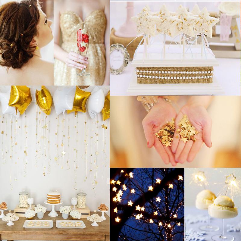 冬に映えるおすすめのオリジナルウェディングテーマ スターウェディング<br /> Fantastic Starry Winter Wedding Ideas