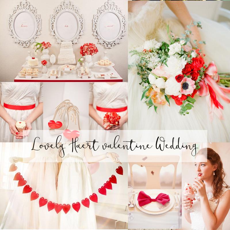 とってもかわいい ロマンティックなバレンタインウェディングのアイデア2017 <br />Romantic Valentine's Day Wedding Ideas 2017