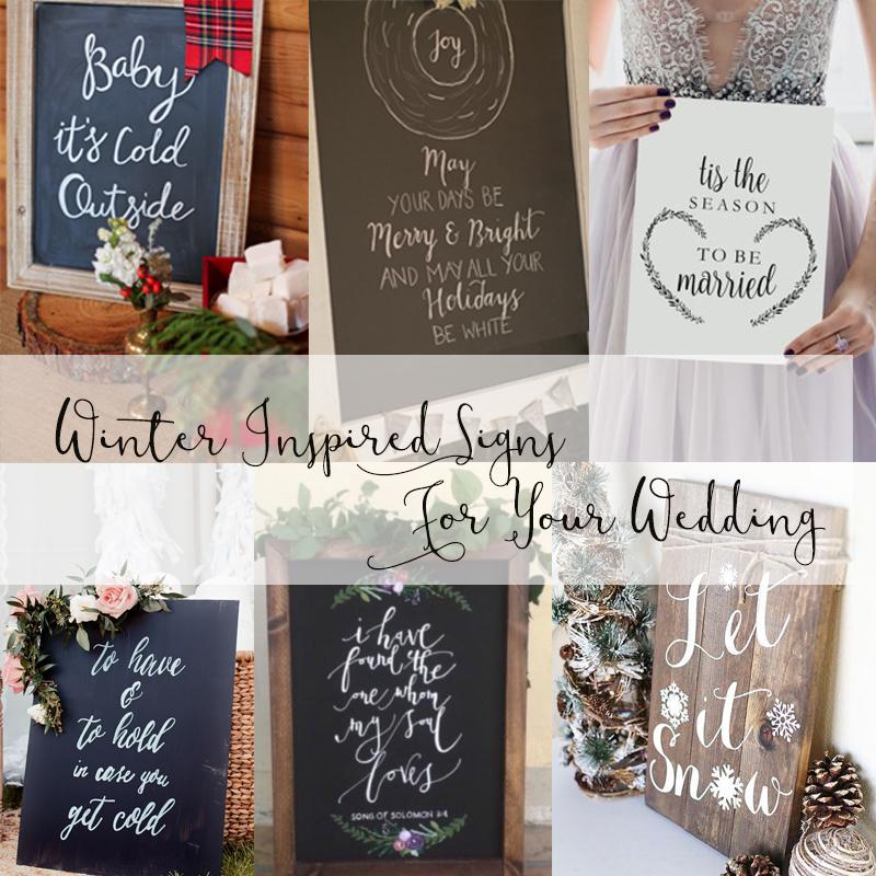 冬ウェディングのウェルカムボードにも使える 冬を演出する英語のメッセージのアイデア<br />Winter Inspired Signs For Your Wedding