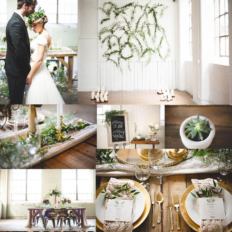 絶対に知ってほしいウェディングトレンド<br />インダストリアルウィンターウェディング<br />5 Winter Industrial Chic Wedding Ideas