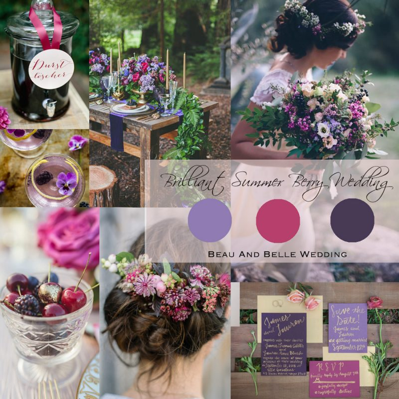 2017 Summer Wedding Inspiration Board<br />Brilliant Summer Berry Wedding(夏の輝くベリーウェディング)