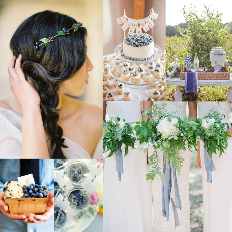 2017 Summer Wedding Inspiration Board Fresh Blueberry Beauty