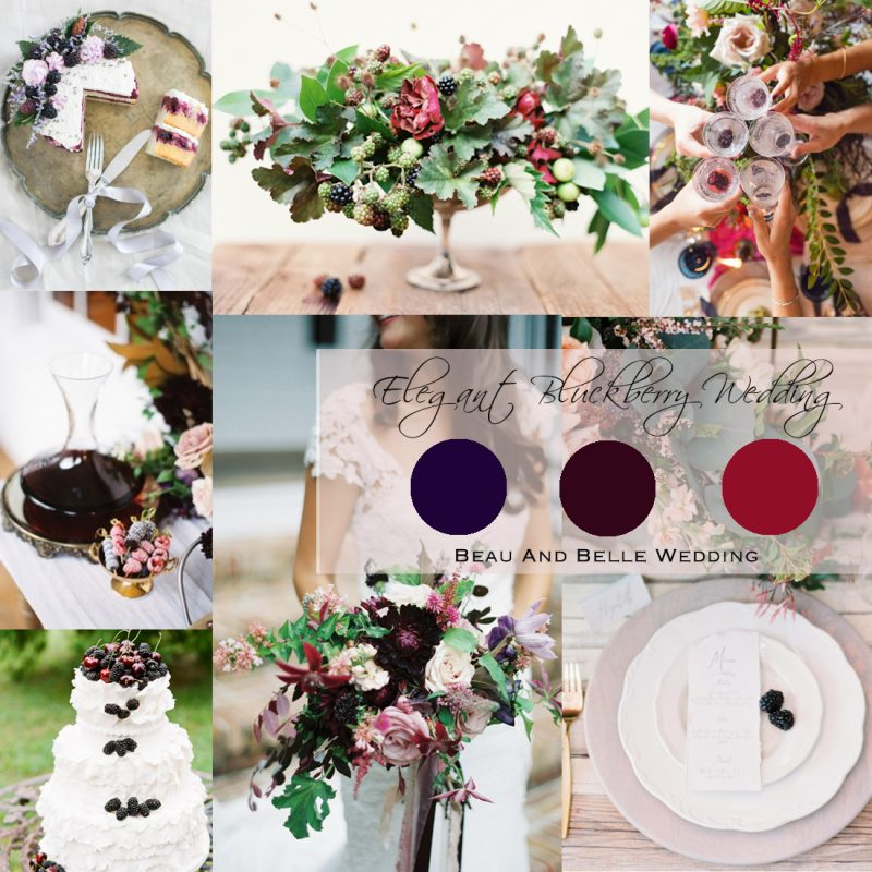 2017 Summer Wedding Inspiration Board<br />Eregant Blackberry Wedding (夏のブラックベリーのウェディング)